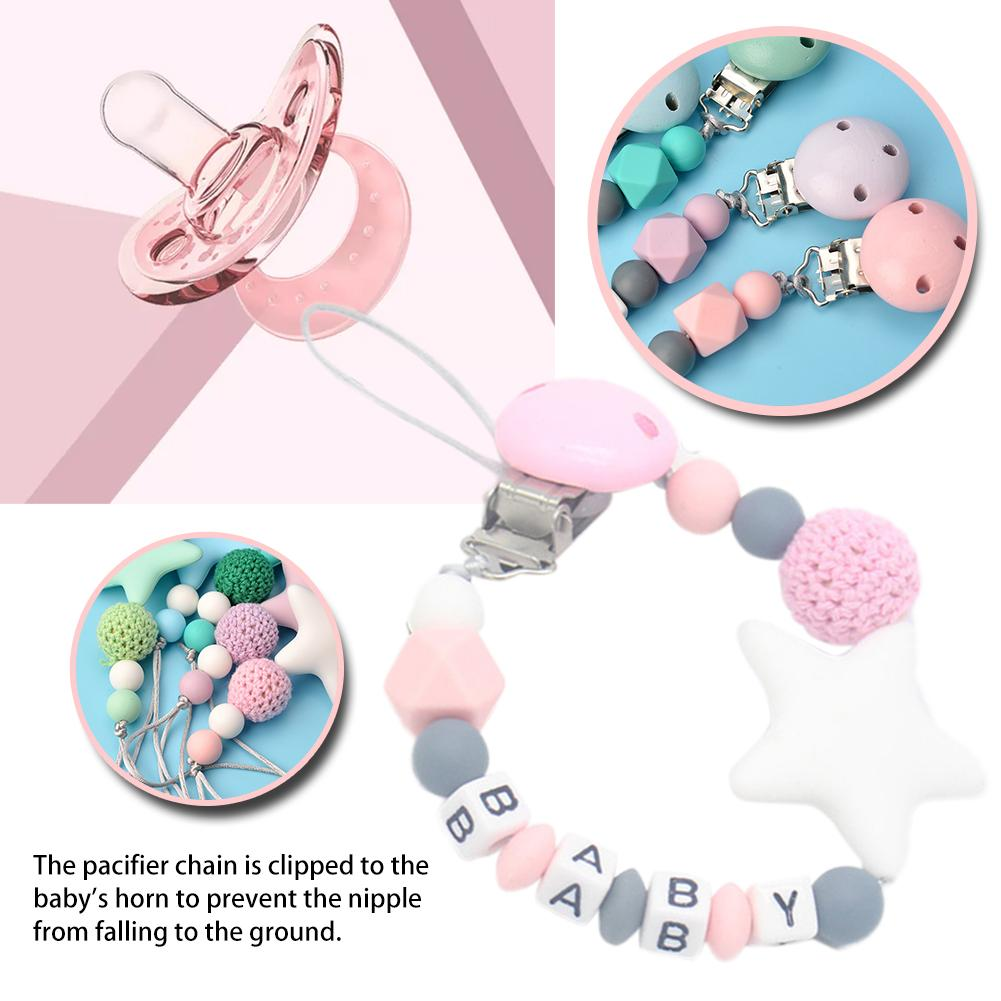 Silicone Pacifier Chain For Infant Chew Toy Baby Products Silicone Nipple Clip Teeth Rubber Anti-drop Chain Anti-drop Belt
