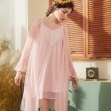Женский халат roseheart белый и розовый цвета пижамы кружевной