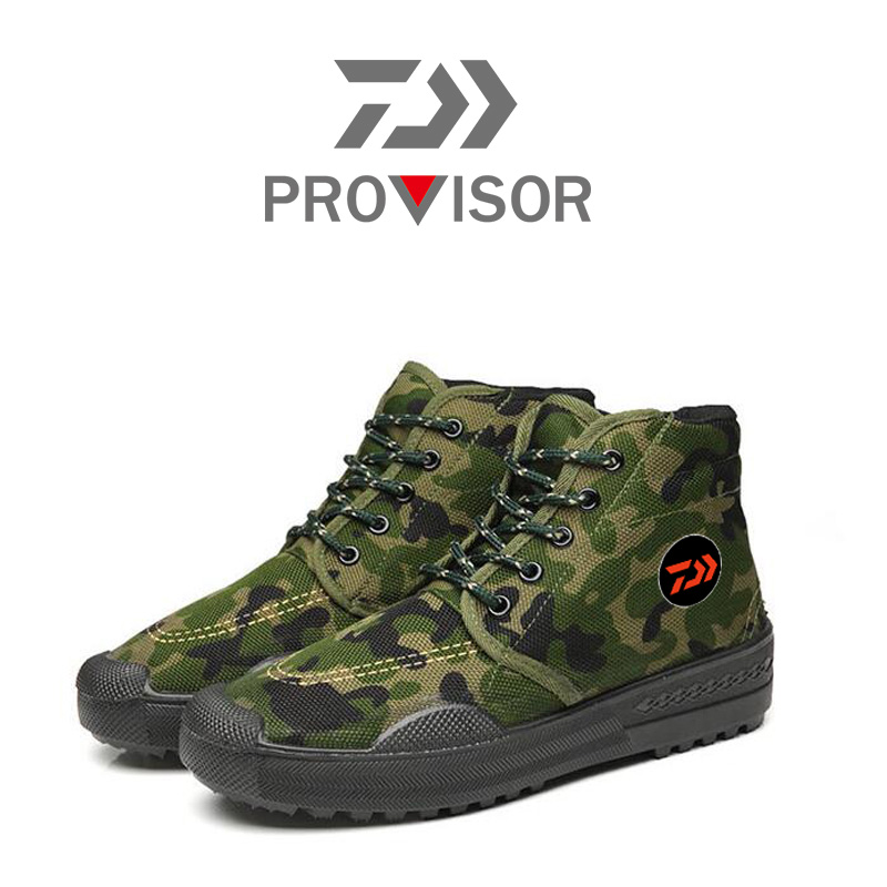 2020 New Dawa Boot Outdoor Shoes Non-slip Fishing Shoes Breathable Quick Dry Boot Camouflage Outdoor Climbing Shoes Fishing Boot
