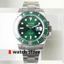 41mm men's automatic watch Green dial sapphire crystal glass ceramic bezel super luminous waterproof mingzhu movement U1