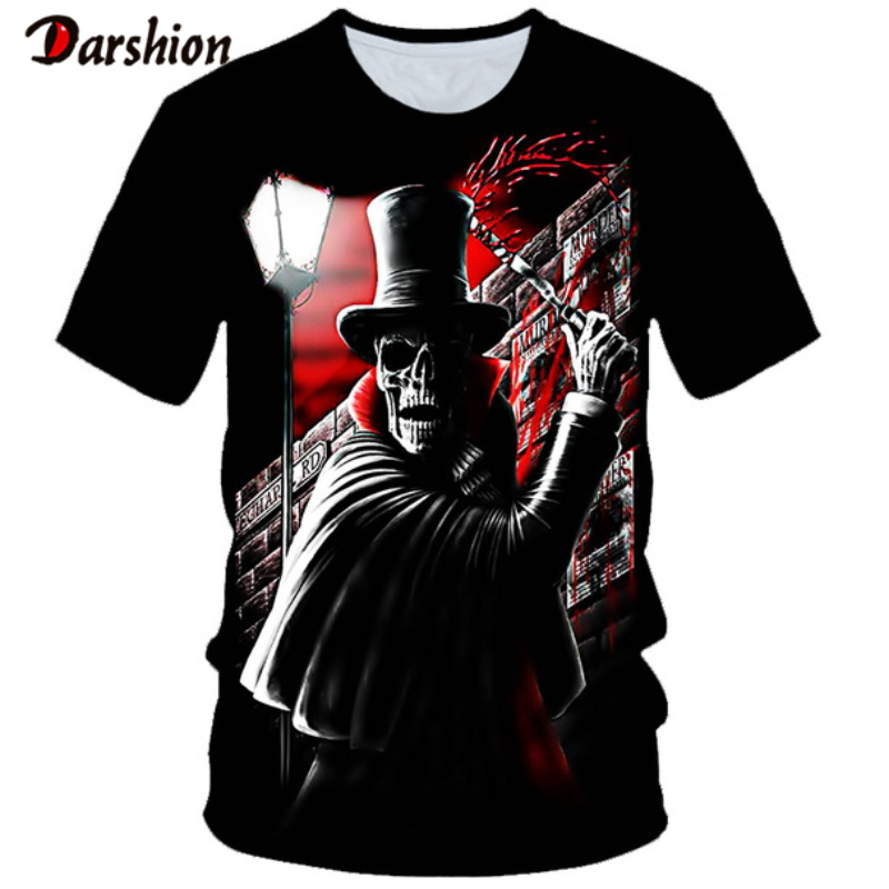 2020 New T-shirt 3D Skull Person Summer Horror Shirt Male Summer Tee Quality Camiseta Short-sleeved O-neck Men's Hip-hop Shirts