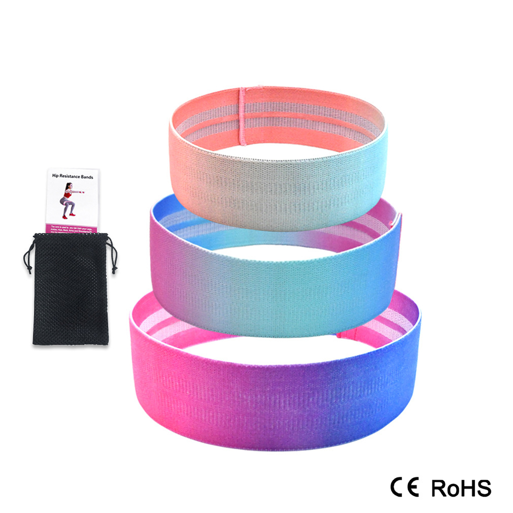 Cotton Hip Resistance Bands Expander Anti Slip Widen Booty Exercise Elastic Bands For Yoga Workout Stretching Training Mini Band