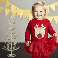 Vestido da menina de vestido vestidos crianças vestidos para meninas vestido infantil do dia das bruxas natal vestido de colete Casual Patchwork Manga Comprida Z4