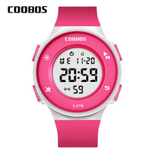 Get more info on the Girls Digital Watches Kids Charming Pink Children's Sports Boys Watch Simple Multi-function 5Bar Waterproof Swimming Wrist Watch