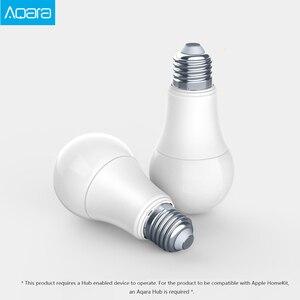 Image 2 - الأصلي Aqara 9 واط E27 2700K 6500K 806lum الذكية الأبيض اللون LED لمبة إضاءة العمل مع عدة المنزل وتطبيق MIjia