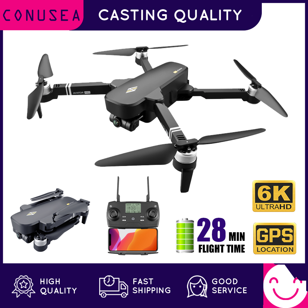 CONUSEA 8811 Pro Drone 6K with 2-Axis Gimbal Camera FPV 28min Flight Time GPS Drones Professional RC Quadcopter VS F11 Pro