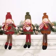 Cute Non-Woven Doll Christmas Pendant Tabletop Desktop Holiday Figurines Ornaments Present New Year Decor Party Supplies