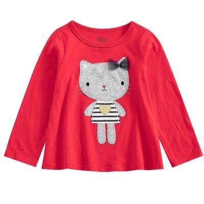 VIDMID Baby Girls cotton butterfly T-shirt Girls cotton Casual kids girls T-Shirts Children long sleeve t-shirt tops 7121 03 2