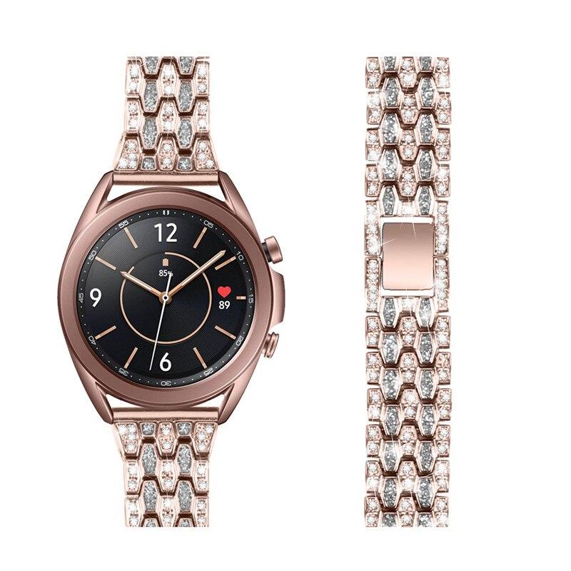 22 20mm Bling Edelstahl Armband Für Samsung Galaxy Uhr 3 45mm 41mm Aktive 2 44mm 40mm Strap Für Huawei Uhr gt 2 Band