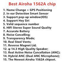 10 pçs airoha 1562a airx plus tws anc sem fio bluetooth fone de ouvido cancelamento ruído ativo air3 super bass
