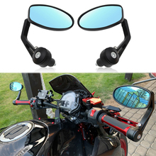 2pcs Motorcycle Rearview Mirror Handlebar Mounted Side 7-inch Mirror Motorbike Accessories
