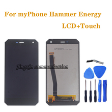 5.0 original LCD for myPhone Hammer Energy display + touch screen glass digitizer assembly mobile phone repair parts