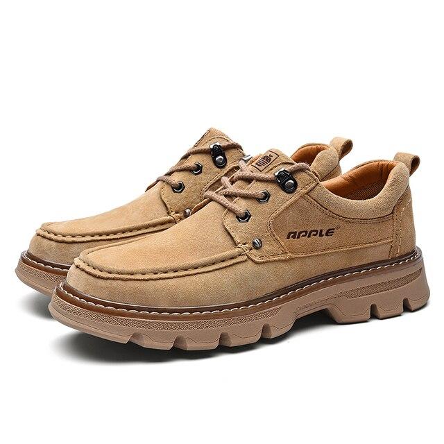 Фото apple натуральная кожа повседневная обувь для работы на открытом