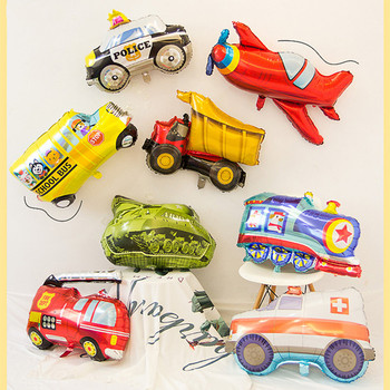 Wholesale 50pcs Ambulance tank fire truck Balloons Party Baloons Party Decorations Foil Balloon Birthday Party Decor Kids toys