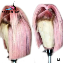 Sunnymay 13x4 Bob Wigs Pre Plucked Lace Front Human Hair
