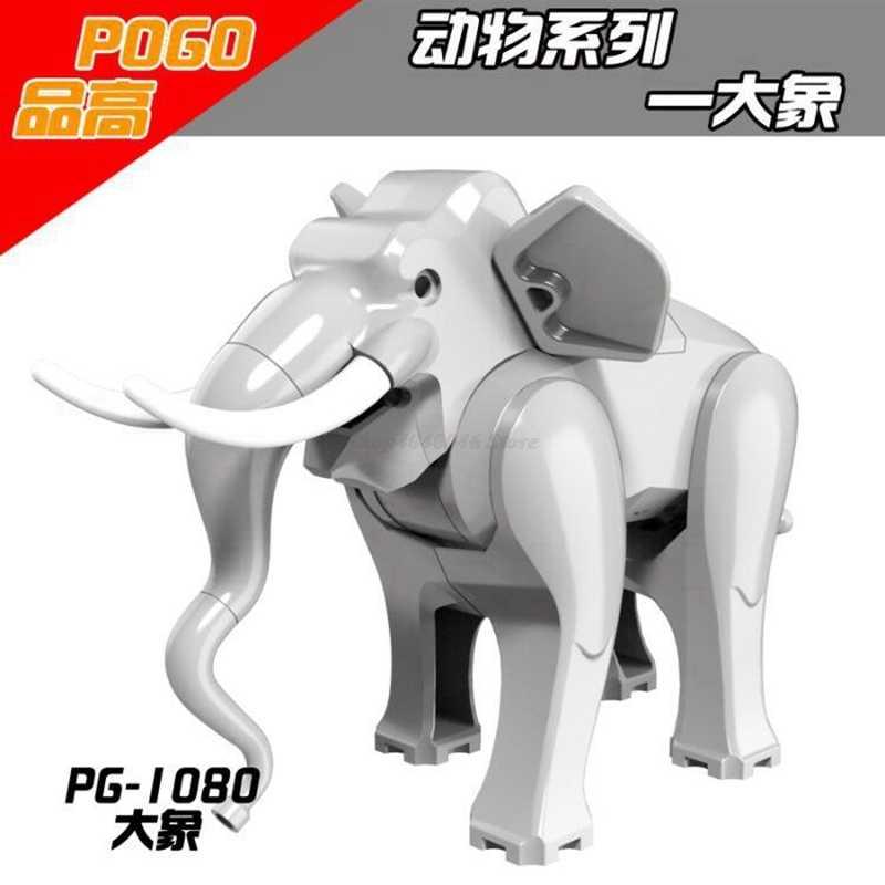 Giocattoli Legoing Animali Blocchi di Figura Elefante Lupo Leopardo Nero Orso Squalo Balena Orangutan Animale della giungla Legoings Zoo Figure Giocattolo