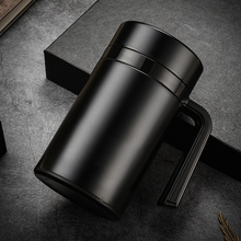 Large Capacity 304 Stainless Steel Thermos Mugs Office Cup With Handle Lid Insulated Tea mug Thermoses 600ML