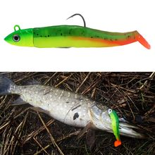 Caça cabeça de peixinho preta, peso 40g 60g 90g 120g comprimento do corpo 11cm 12.5cm 13.5cm 15.5cm