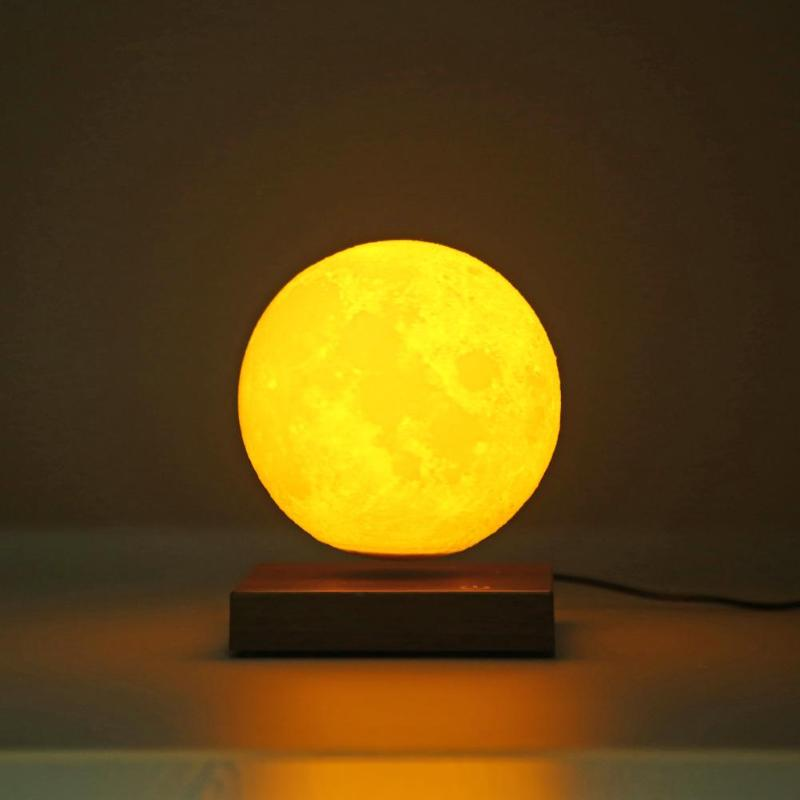 Magnetic Levitating 3D Moon Lamp 360 Rotated Night Lamp Floating Romantic Light Home Decoration For Valentine's Day Gift