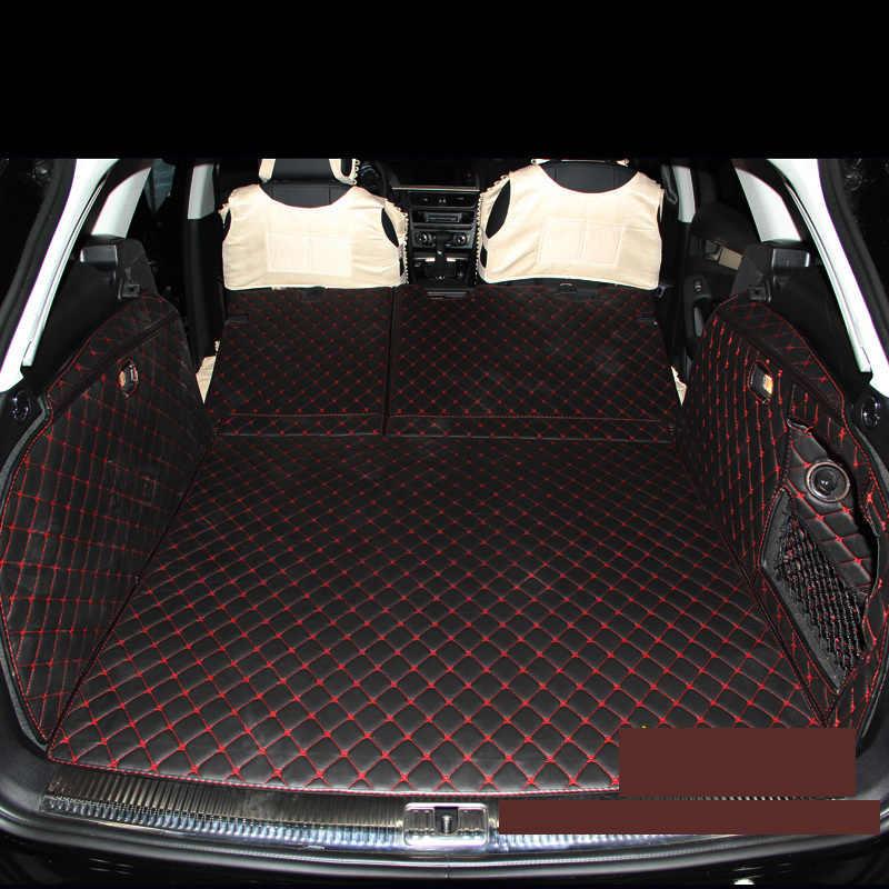عالية الجودة جلدية سيارة فرش داخلي للسيارات والشاحنات البضائع بطانة لأودي A4 B8 أفانت 2007-2016 2011 2012 2013 2014 2015 2016 اولرود اكسسوارات