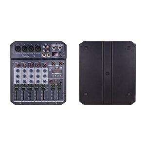 Image 2 - Muslady T6 tarjeta de sonido portátil de 6 canales, consola mezcladora de Audio con potencia Phantom de 48V integrada, compatible con conexión BT, DJ en vivo