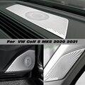 Наклейки для Volkswagen VW Golf 8 MK8 2020 2021 приборной панели громкоговорителя, крышка динамика, аксессуары для отделки, LHD Автомобильный Стайлинг, ауди...