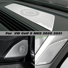 For Volkswagen VW Golf 8 MK8 2020 2021 Dashboard Loudspeaker Cover Stickers Trim Accessories LHD  Car styling Audio Speaker