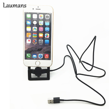 Laumans 2 in 1 foldable Holder Charger Dock Station For iPhone 4 5 5s 6 plus For iPad mini For Samsung Galaxy S4 S5 S6 Note4 цена 2017