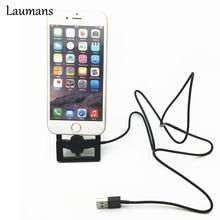 цены на Laumans 2 in 1 foldable Holder Charger Dock Station For iPhone 4 5 5s 6 plus For iPad mini For Samsung Galaxy S4 S5 S6 Note4  в интернет-магазинах
