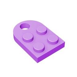 BuildMOC Compatible Assembles Particles 3176 Modified 2 x 2 Building Blocks Parts DIY LOGO Educational Tech Parts Toys