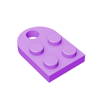 BuildMOC Compatible Assembles Particles 3176 Modified 2 x 2 Building Blocks Parts DIY LOGO Educational Tech Parts Toys
