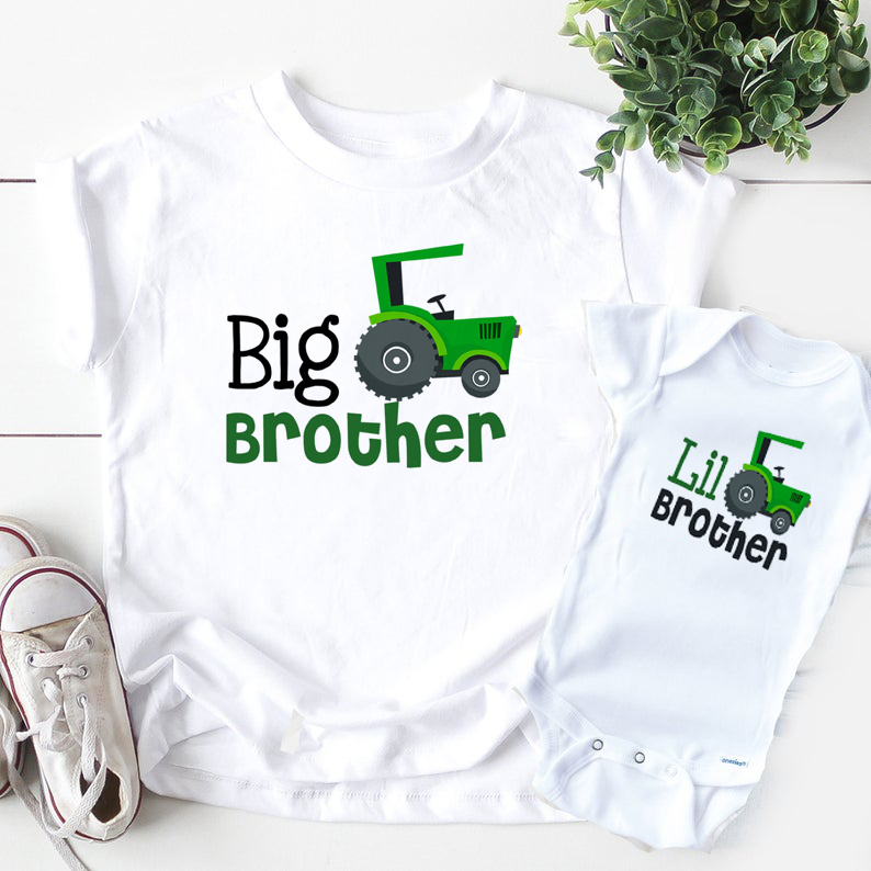Siblings matching shirts Big Brother Little brother t-Shirts brothers truck tops big brother little brother maching outfits