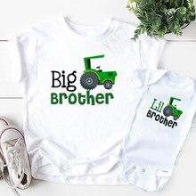Irmãos combinando camisas irmão mais novo t-shirts irmãos caminhão topos irmão mais novo macing roupas