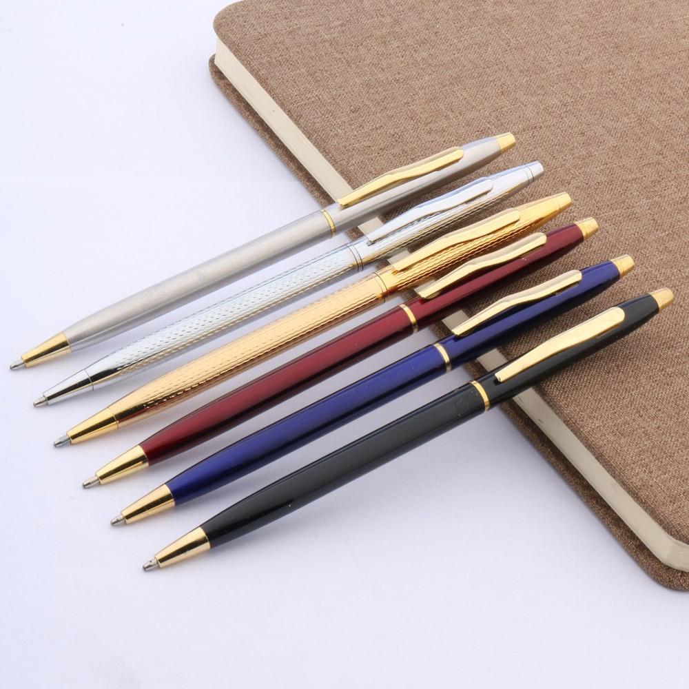 OFFICE STUDENT PEN Classic Design Navy RED 0.7 Nib Metal Ballpoint Pen