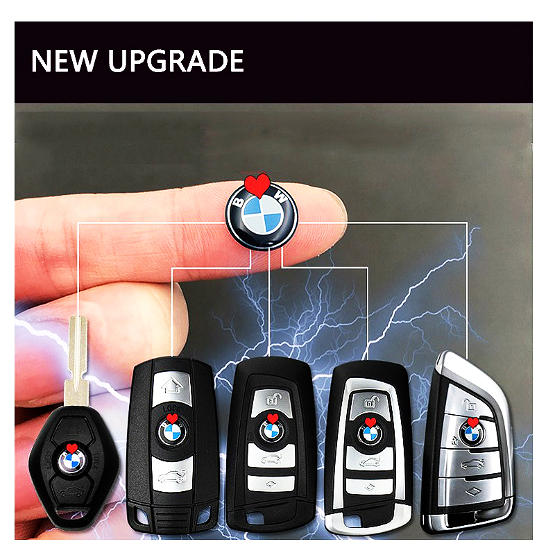 1 pcs 11mm Car Key stickers round metal Emblem Sign stickers For BMW 3 Series 5 Series 7 Series X3 X4 X5 M3 M5 M6 styling sticke