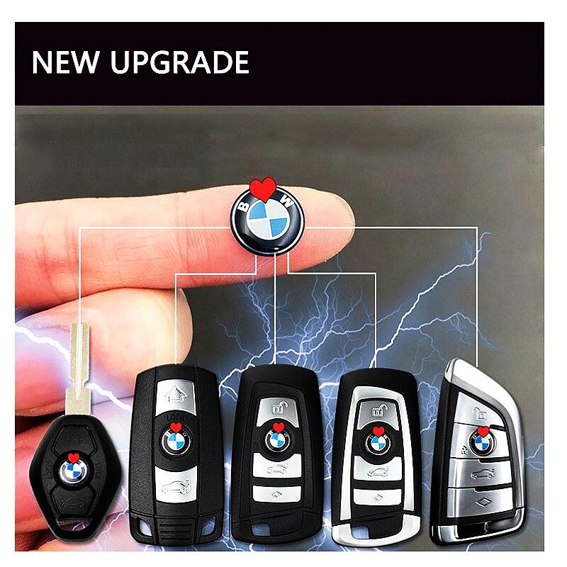 1 pcs 11mm Chiave Dell'automobile adesivi rotondo di metallo Emblema Segno adesivi Per BMW Serie 3 Serie 5 Serie 7 x3 X4 X5 M3 M5 M6 styling sticke