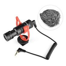 Mini Mikrofon Stecker-und-Spielen Mic 3,5mm Stecker mit Shock Mount Wind Bildschirm für Smartphone DSLR Kamera video Fotografie