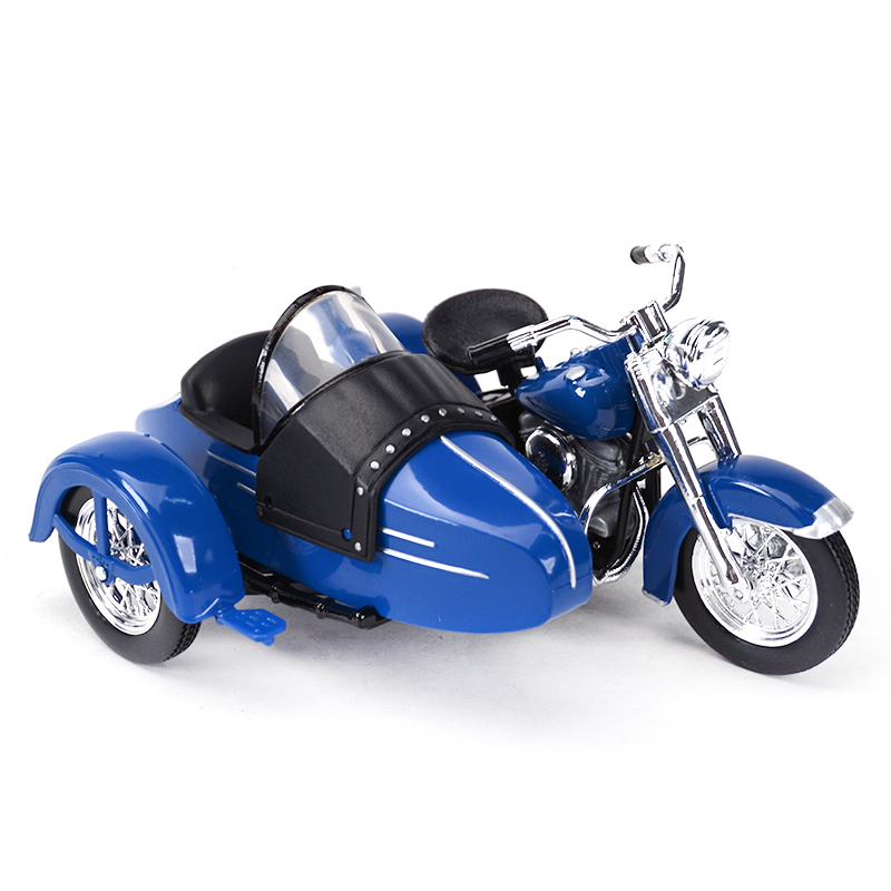 Maisto 1:18 1952 FL Hydra Glide Motorcycle Sidecar Diecast Alloy Motorcycle Model Toy