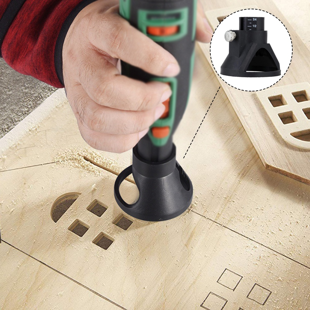 Electric Grinder Locator Mini Bell Mouth Electric Mill Locator Drill Grindering Polishing Retainer Rotary Tool Model Holder