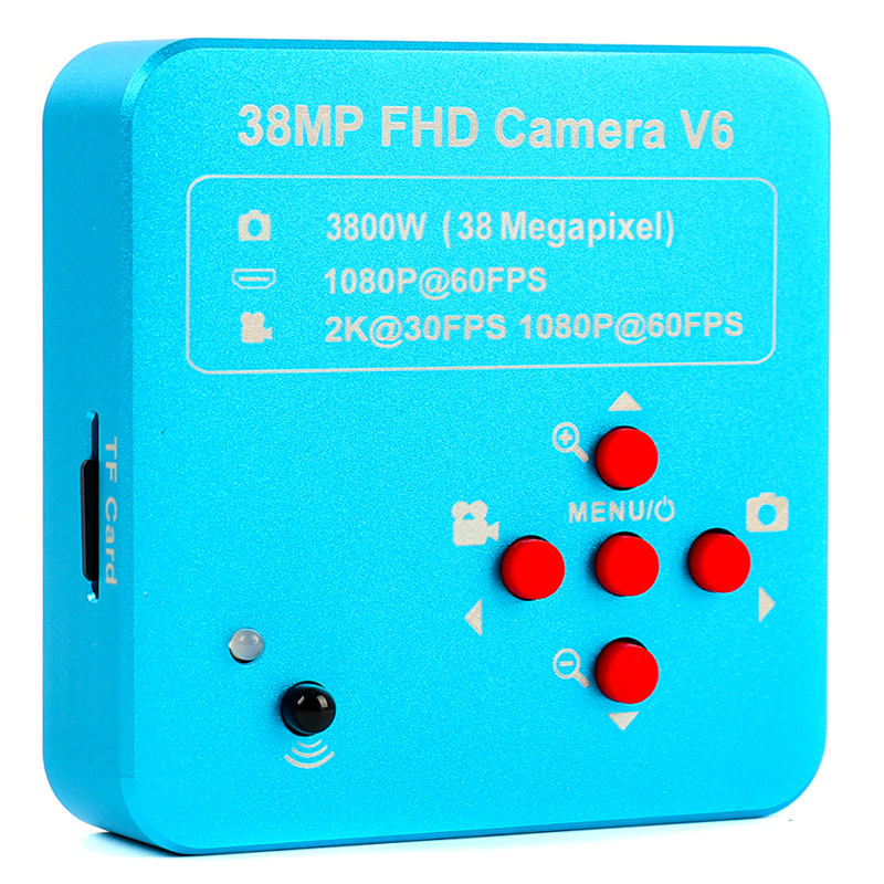 2019 Full HD 1080P 60FPS 2K 3800W 38MP HDMI USB Industrial Electronic Digital Video Microscope Camera For Phone CPU PCB Repair