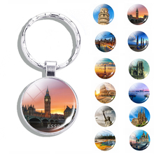 World Famous Attractions Keychain Beautiful Eiffel Tower, Big Ben, Leaning Tower of Pisa Keyring Jewelry Men Charm Gift italian flag style graffiti leaning tower of pisa pattern case for samsung s6812 s6810 green