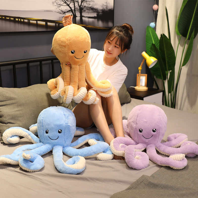 Lovely Simulation Octopus Pendant Plush Stuffed Toy Soft Animal Home Accessories Decor Cute Animal Doll Child Kids Birthday Gift