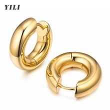 Brincos de argola de ouro pequenos e chunky 14k banhado a ouro dainty minúsculos grossos huggie hoop brincos para mulher e meninas