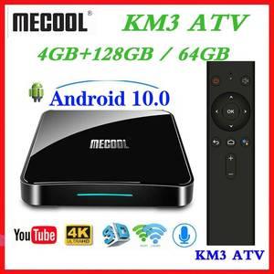 Image 1 - Max 4GB RAM 128GB ROM Mecool Android TV 10.0 KM3 TV kutusu Android 9.0 Google sertifikalı S905X2 4K akıllı medya oynatıcı KM9 PRO ATV