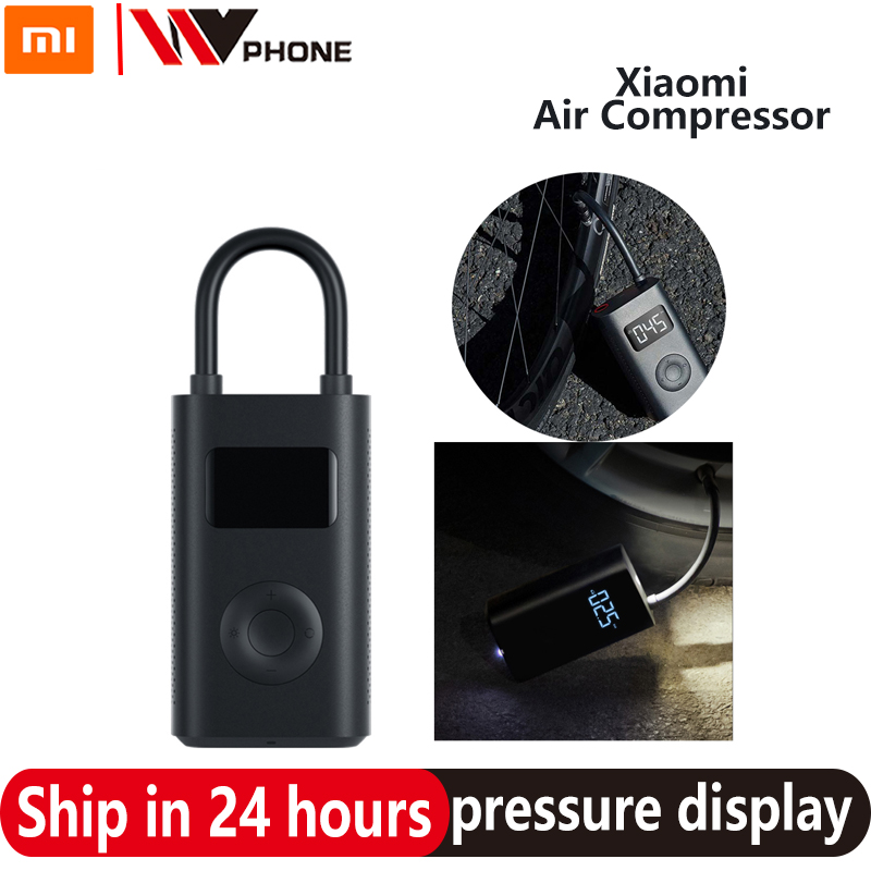 Xiaomi Mi Mijia Portable Digital Pump Air Compressor Tire Pressure Detection Electric Inflator Pump For Bike Motorcycle Car ball image