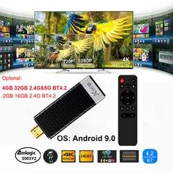 X96S TV Stick Android 9.0 Dongle TV 4GB 32GB procesor Amlogic S905Y2 czterordzeniowy 2.4G 5GHz Wifi BT4.2 1080P H.265 HD 4K 60pfs odbiornik TV|Dongle smart TV|   -