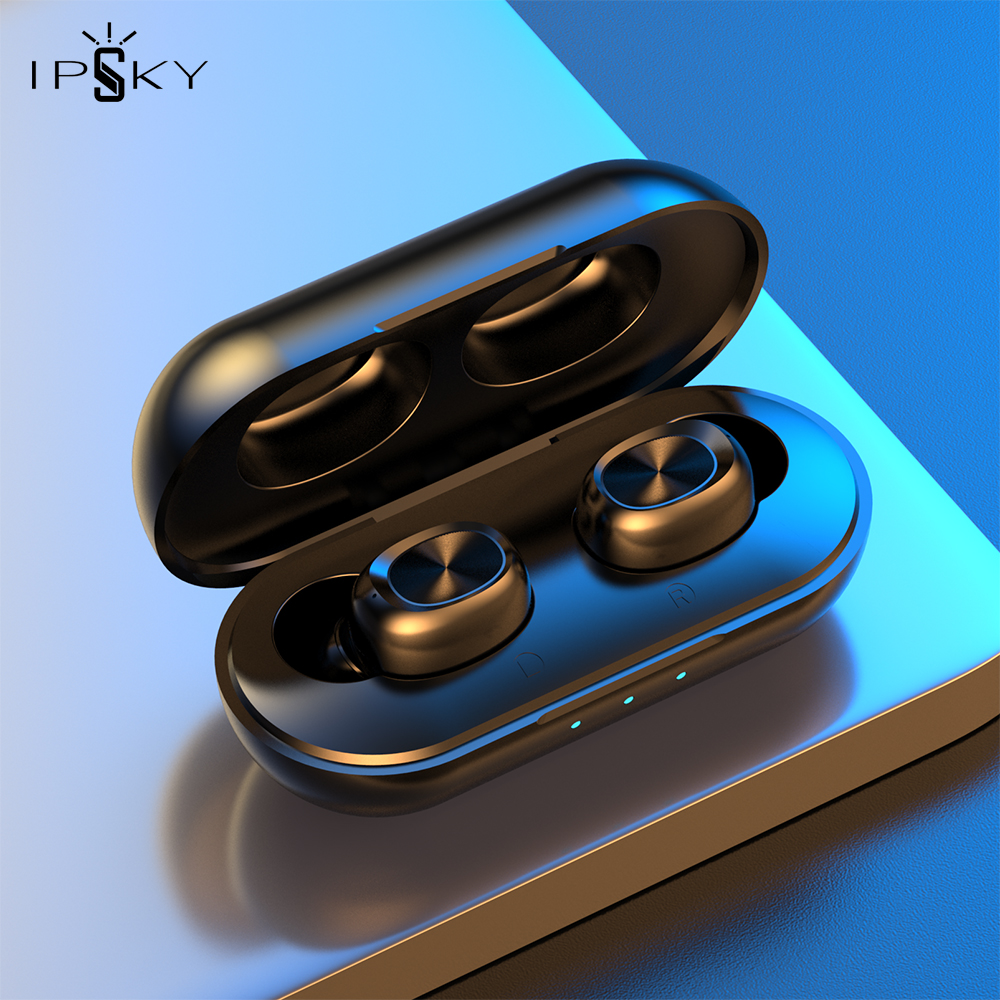 IPSKY Wireless Headphones Bluetooth 5 0 Fitness Sport TWS Earphone LED Android Earbuds For iPhone Huawei Xiaomi HiFi Stereo MP3