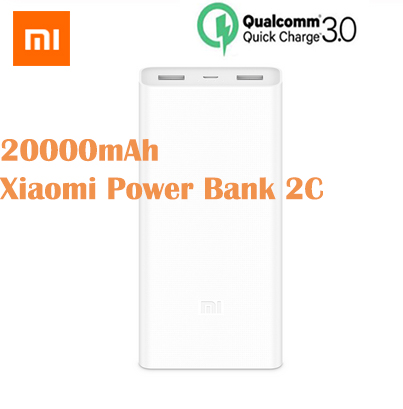 Original <font><b>Xiaomi</b></font> <font><b>Mi</b></font> PowerBank 20000mAh <font><b>2C</b></font> Portable Charger QC3.0 Dual USB <font><b>Mi</b></font> External Battery <font><b>Bank</b></font> For Mobile Phones <font><b>XIAOMI</b></font> <font><b>20000</b></font> image
