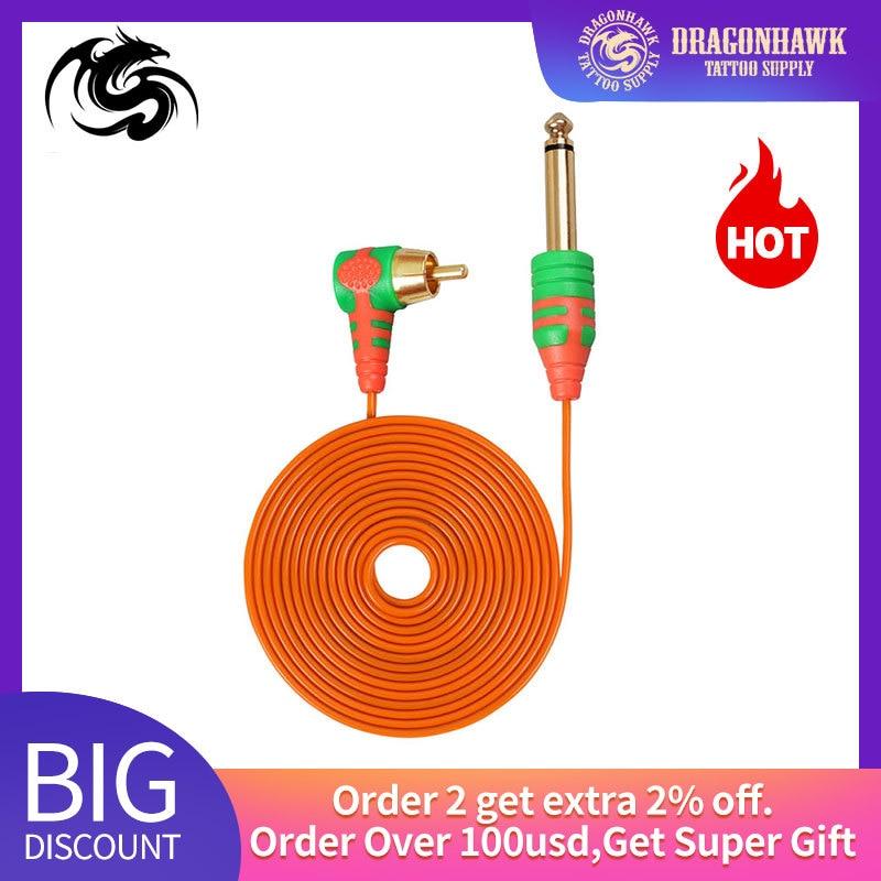 Silicone Tattoo Cord RCA 2m Clip Cord Rubber For Tattoo Machine Pen Machine Wire Tattoo Power Supply