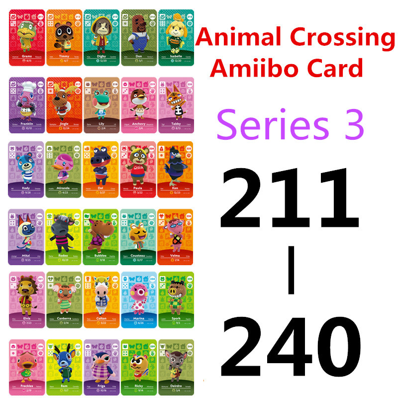 Animal Crossing <font><b>Card</b></font> <font><b>Amiibo</b></font> <font><b>Card</b></font> Work for NS Games <font><b>NFC</b></font> Amibo <font><b>Switch</b></font> Ankha Welcome Stickers New Horizons Series 3 (211-240) image